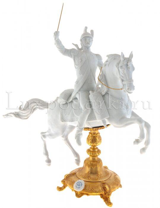 """Скульптура  Tiche """"Драгун на коне"""" , цвет: белый- 0"""