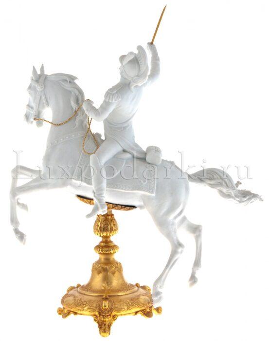"""Скульптура  Tiche """"Драгун на коне"""" , цвет: белый- 2"""