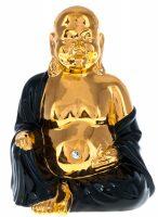 "Статуэтка  Ahura ""Bellly Buddha""  золотая с черным"