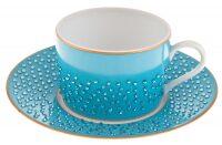 """Чайный набор на 6 персон  Manufacture de Monaco """"Голубая лагуна"""""""