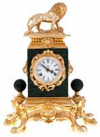 Настольные часы со львом Linea Argenti