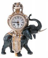 """Настольные часы  Linea Argenti """"Чёрный слон"""""""