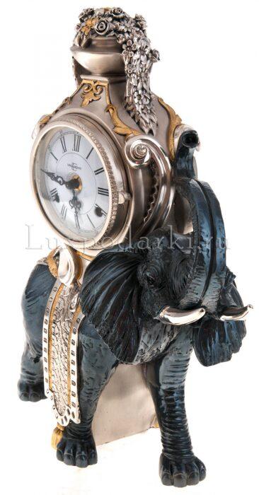 """Настольные часы  Linea Argenti """"Чёрный слон"""" - 1"""