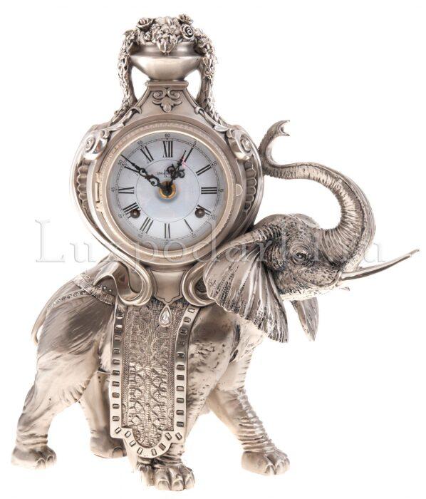 """Настольные часы со  Linea Argenti """"Слоном"""" - 0"""