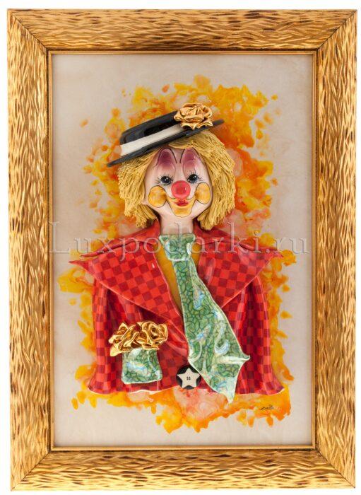 "Картина прямоугольная  Zampiva ""Клоун в шляпе"" - 0"
