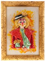 "Картина прямоугольная  Zampiva ""Клоун в шляпе"""
