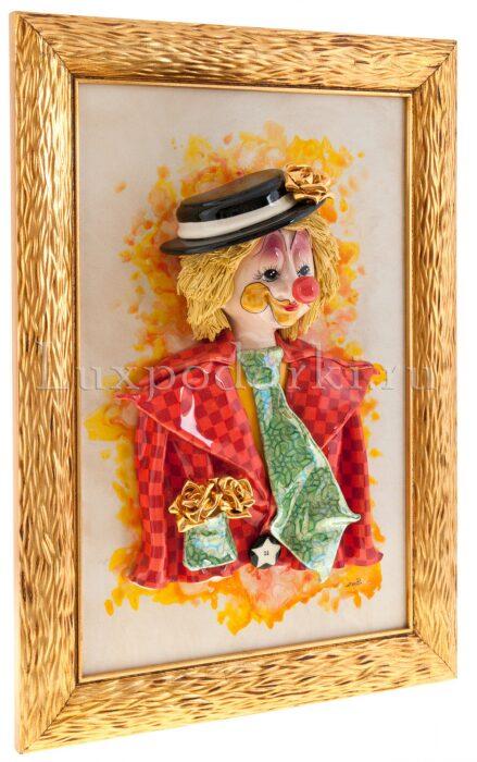 "Картина прямоугольная  Zampiva ""Клоун в шляпе"" - 1"