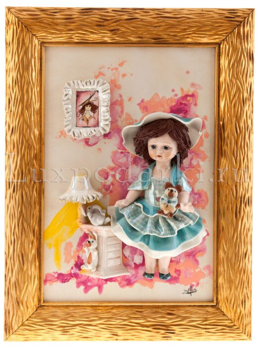 "Картина прямоугольная  Zampiva ""Кукла стоящая у тумбочки"" - 0"