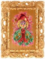 "Картина  Zampiva ""Клоун в колпаке со звёздами"""