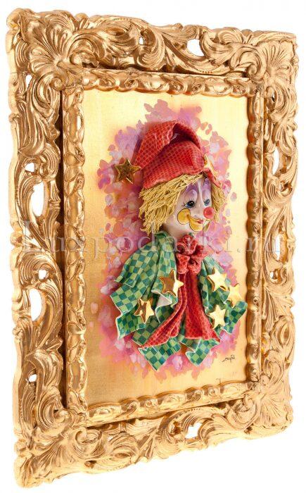 "Картина  Zampiva ""Клоун в колпаке со звёздами"" - 1"