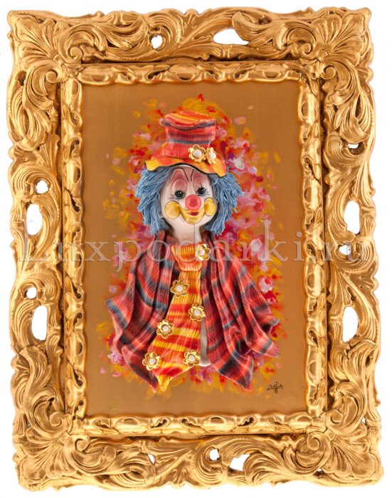 """Картина  Zampiva """"Клоун в цилиндре и галстуке""""- 0"""