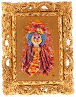 """Картина  Zampiva """"Клоун в цилиндре и галстуке"""""""
