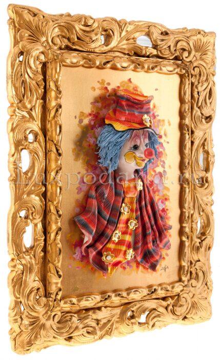 """Картина  Zampiva """"Клоун в цилиндре и галстуке""""- 1"""