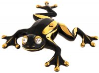 """Статуэтка  Ahura """"Лягушка Коста-Рика"""" , цвет: чёрный с золотом"""