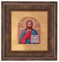 """Икона """"Иисус Христос"""" (художественный багет) большая"""