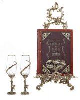 """Набор бокалов для вина """"Ангел"""" с подарочной книгой """"Вино и еда"""""""