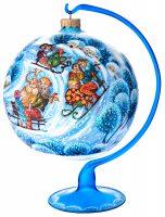 """Ёлочный шар """"Зимний отдых"""" на подставке"""