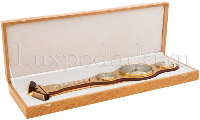 Часы с барометром и термометром- 3
