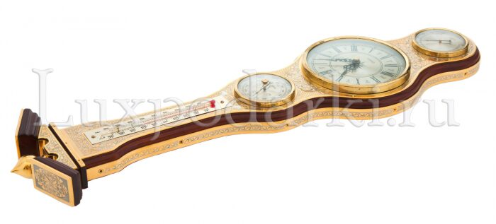 Часы с барометром и термометром- 2