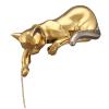 """Статуэтка  Ahura """"Кошка лежащая"""" , цвет: золотой с платиной- 0"""