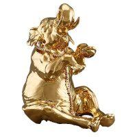 """Статуэтка  Ahura """"Сидящий слон""""  большая, цвет: золотой"""