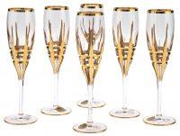 "Набор бокалов для шампанского  Same Decorazione ""Корона""  на 6 персон"