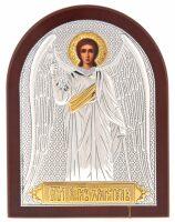 Серебряная с золочением икона Ангела Хранителя 12 x 16 см