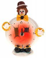 """Часы круглые  Zampiva """"Клоун в коричневой шляпе"""""""