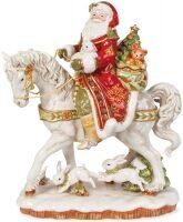 """Дед Мороз на лошади  Fitz and Floyd """"Дамаск"""""""