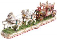 "Скульптура  Elite & Fabris ""Закрытая карета запряжённая четвёркой лошадей"""