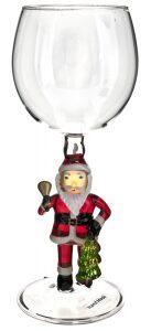 "Бокал для вина ""Дед Мороз с колокольчиком"""