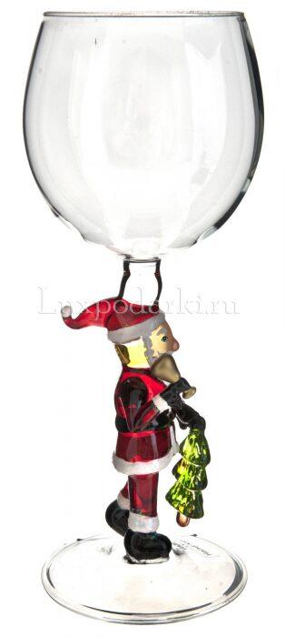 "Бокал для вина ""Дед Мороз с колокольчиком""- 1"