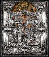 """Икона """"Распятие Христа"""" посеребрение"""