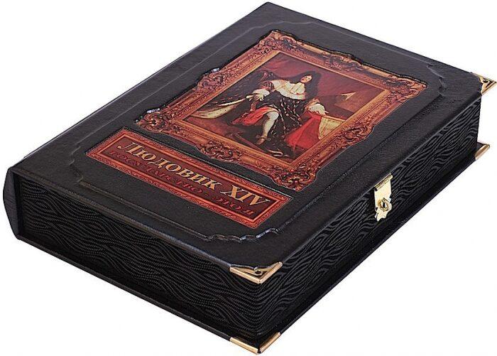 """Книга в кожаном переплете """"Людовик XIV. Государство - это я"""" (в коробе)- 1"""
