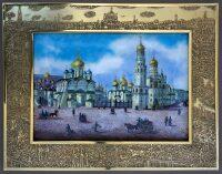 """Настенное панно  Русские Эмали """"Соборная площадь в Кремле"""""""