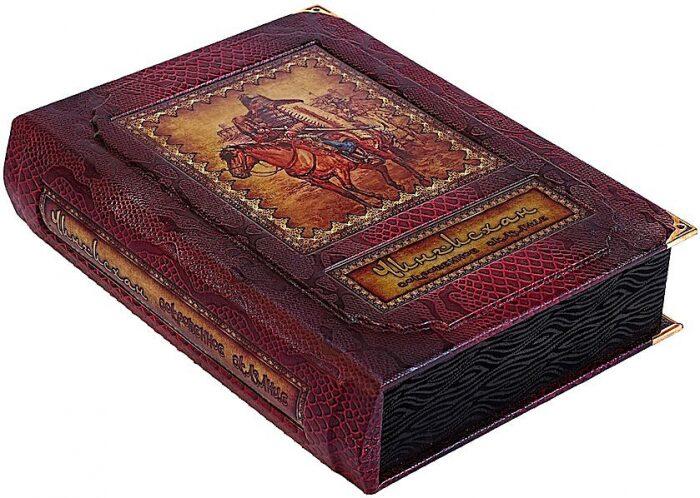 """Книга в кожаном переплете """"Чингисхан. Сокровенное сказание"""" (в коробе)- 0"""