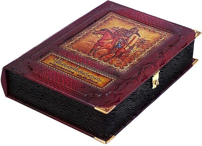 """Книга в кожаном переплете """"Чингисхан. Сокровенное сказание"""" (в коробе)- 1"""