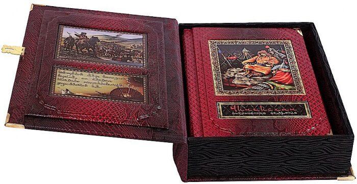 """Книга в кожаном переплете """"Чингисхан. Сокровенное сказание"""" (в коробе)- 2"""