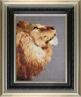 "Картина на шёлке ""Голова льва"""