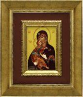 """Икона на шёлке """"Богородица Владимирская"""""""