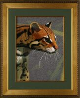 "Картина на шёлке ""Золотая кошка"""