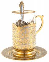 """Набор для чая на одну персону """"Узоры"""" (Златоуст)"""