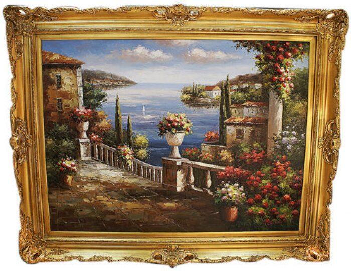 "Картина  Bertozzi Cornici ""Набережная"" , рамка: золотого цвета- 0"