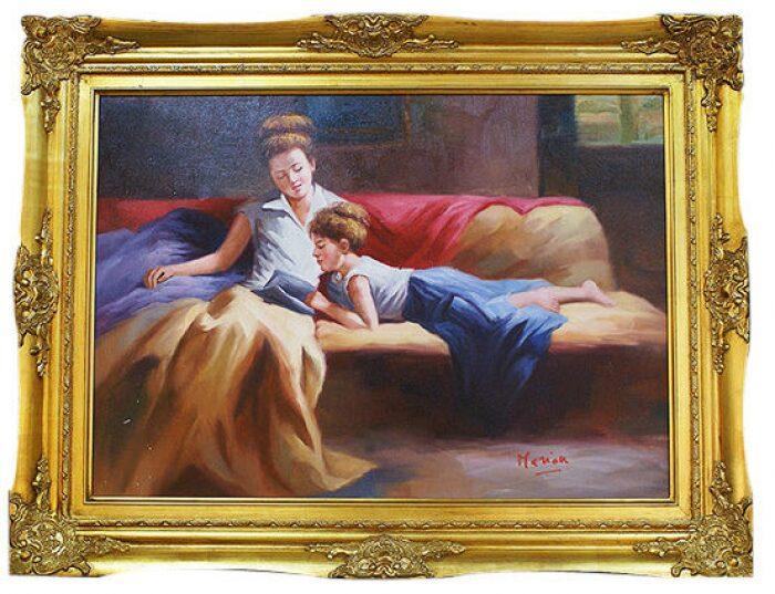 "Картина  Bertozzi Cornici ""Мама с дочкой за чтением""- 0"