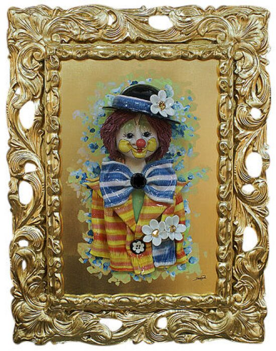 "Картина  Zampiva ""Клоун в котелке с ромашками"" - 0"