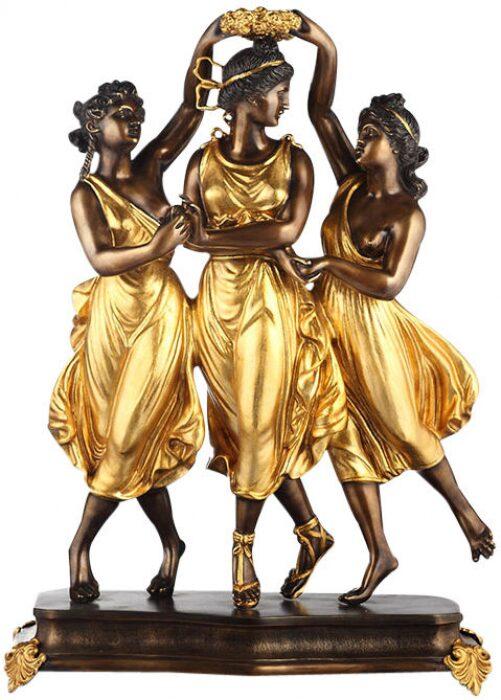 "Скульптура бронзовая  Fonderia Ruocco ""Три танцовщицы""- 0"