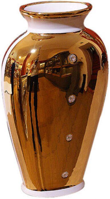 Ваза овальная, Swarovski, золотого цвета Bruno Costenaro- 0